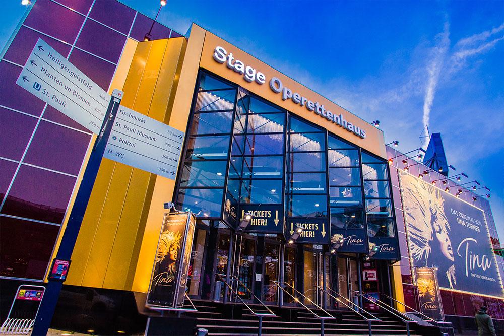 Das Stage Operettenhaus auf der Hamburger Reeperbahn
