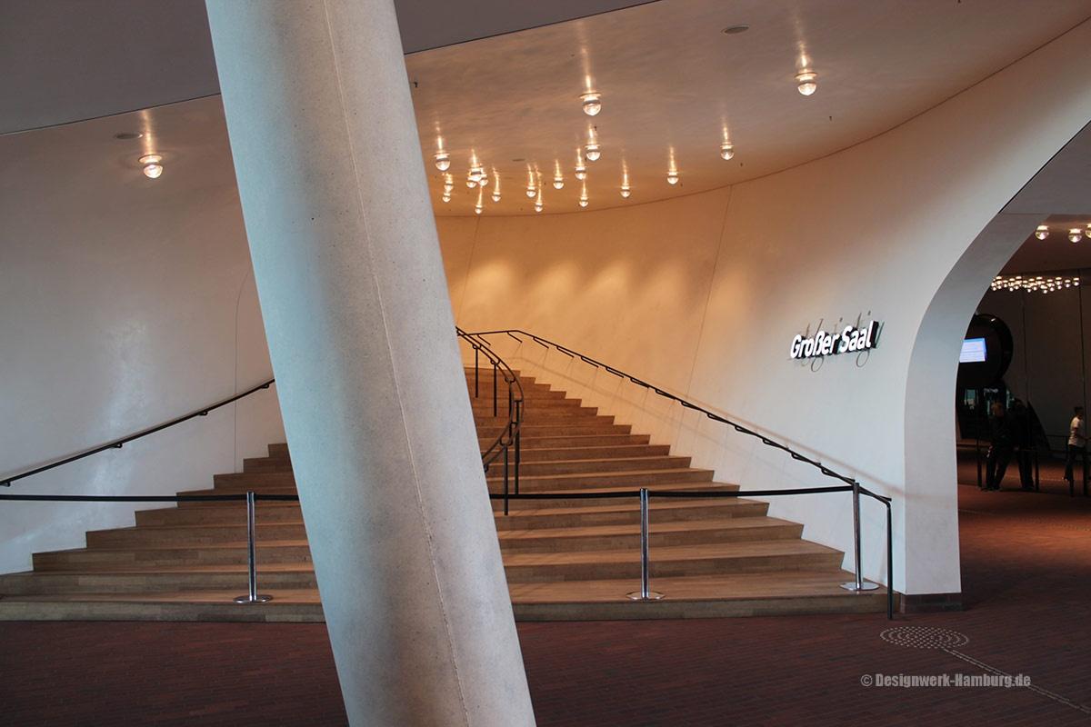 Aufgang zum Saal der Elbphilharmonie