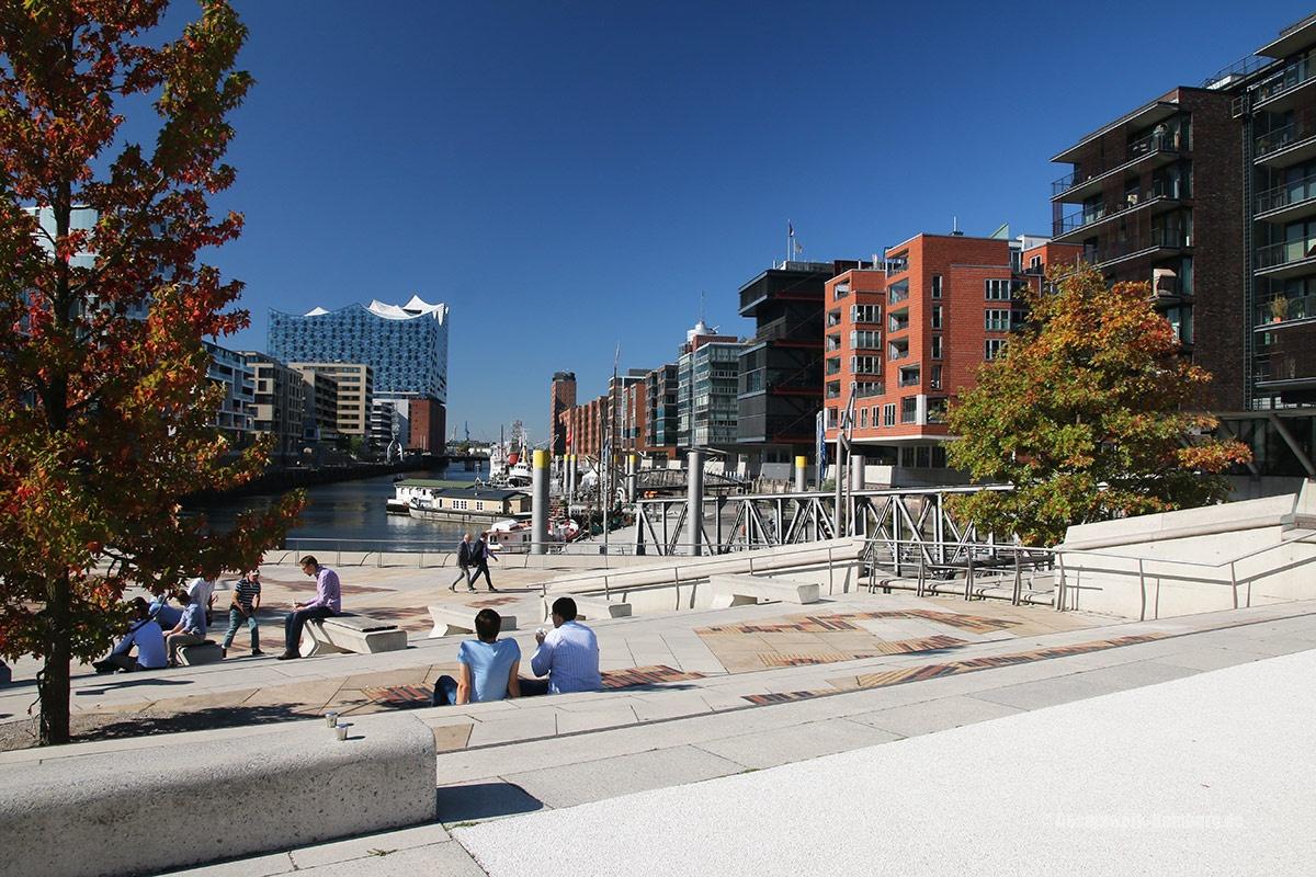 Blick auf die moderne Hafencity